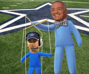 As long as Jerry play Puppetmaster, the Cowboys are doomed (love the blue unitards, btw).