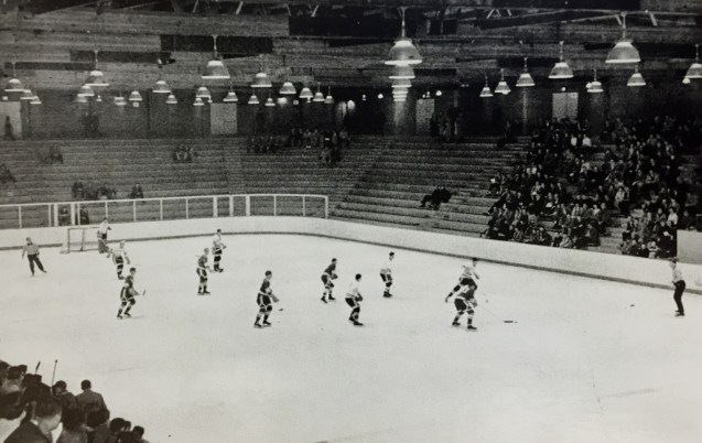 The new Lynah Rink in 1958 (The 1958 Cornellian)
