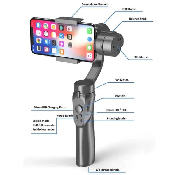 H4 3Axis Mobile Gimbal