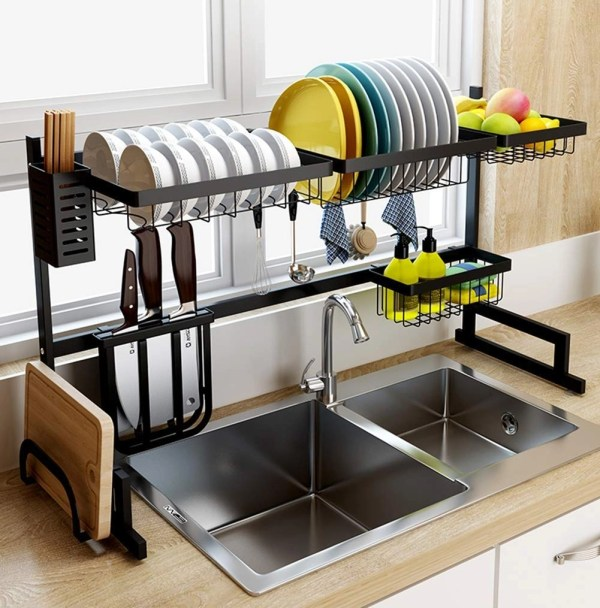 Kitchen Dish Drying Rack Over Sink
