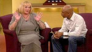 Sylvia Browne during one of her many appearances on the Montel Williams Show.