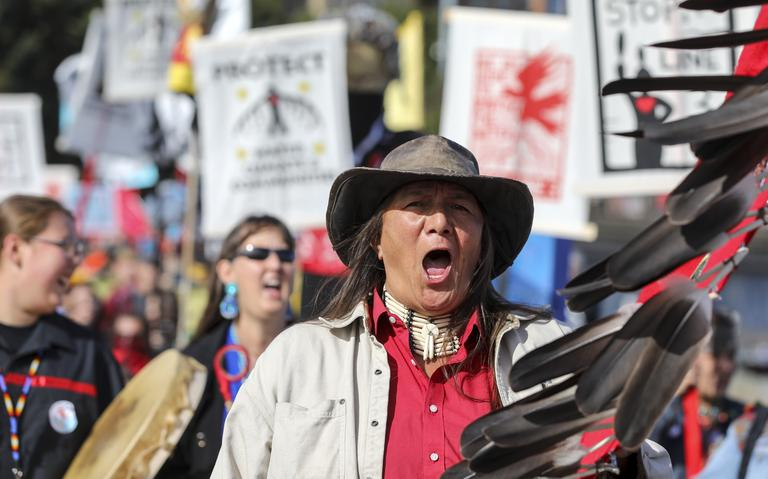 North Wind Woman leading march