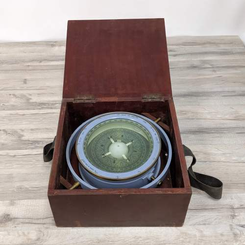 Open Box View Authentic Salvaged B. Cooke & Son Magnetic Compass