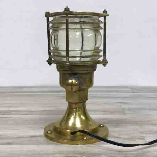 Small Vintage Brass Nautical Post Light