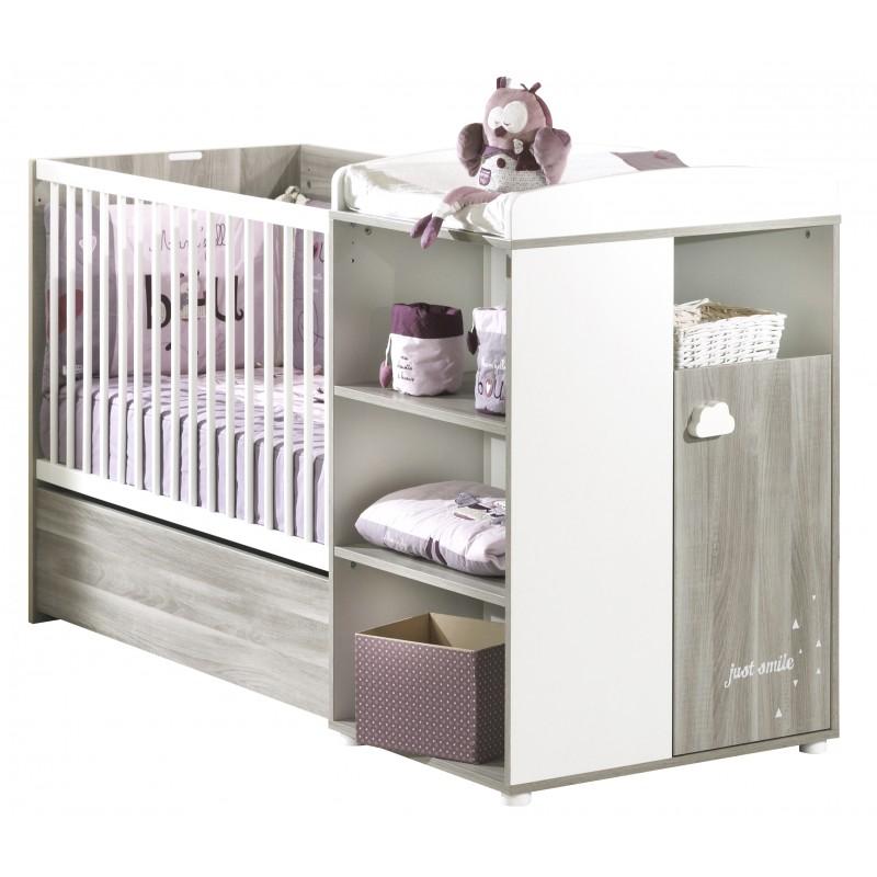 lit bebe combine evolutif 60x120 en 90x190 smile baby price