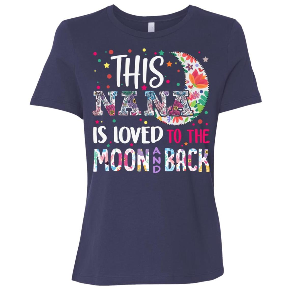 Download This Nana is loved to the moon and back Women Short Sleeve ...