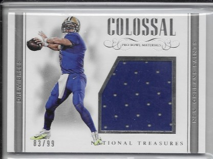 reputable site 41f6a 55b63 2017 National Treasures Colossal Pro Bowl Materials- Drew Brees /99