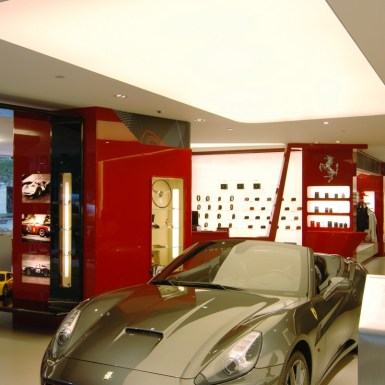 Ferrari showroom and store