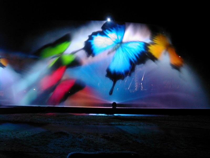 Wynn Projection test, Water Screen Night