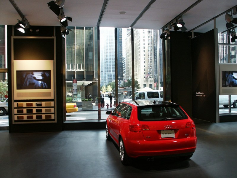 Audi Showroom view of embedded video