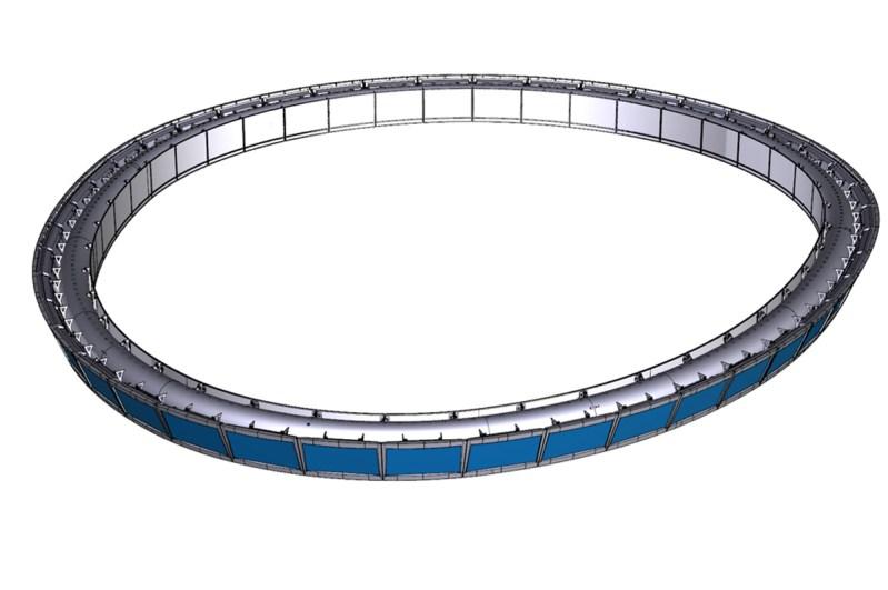 3D rendering of Jet Blue Ring design