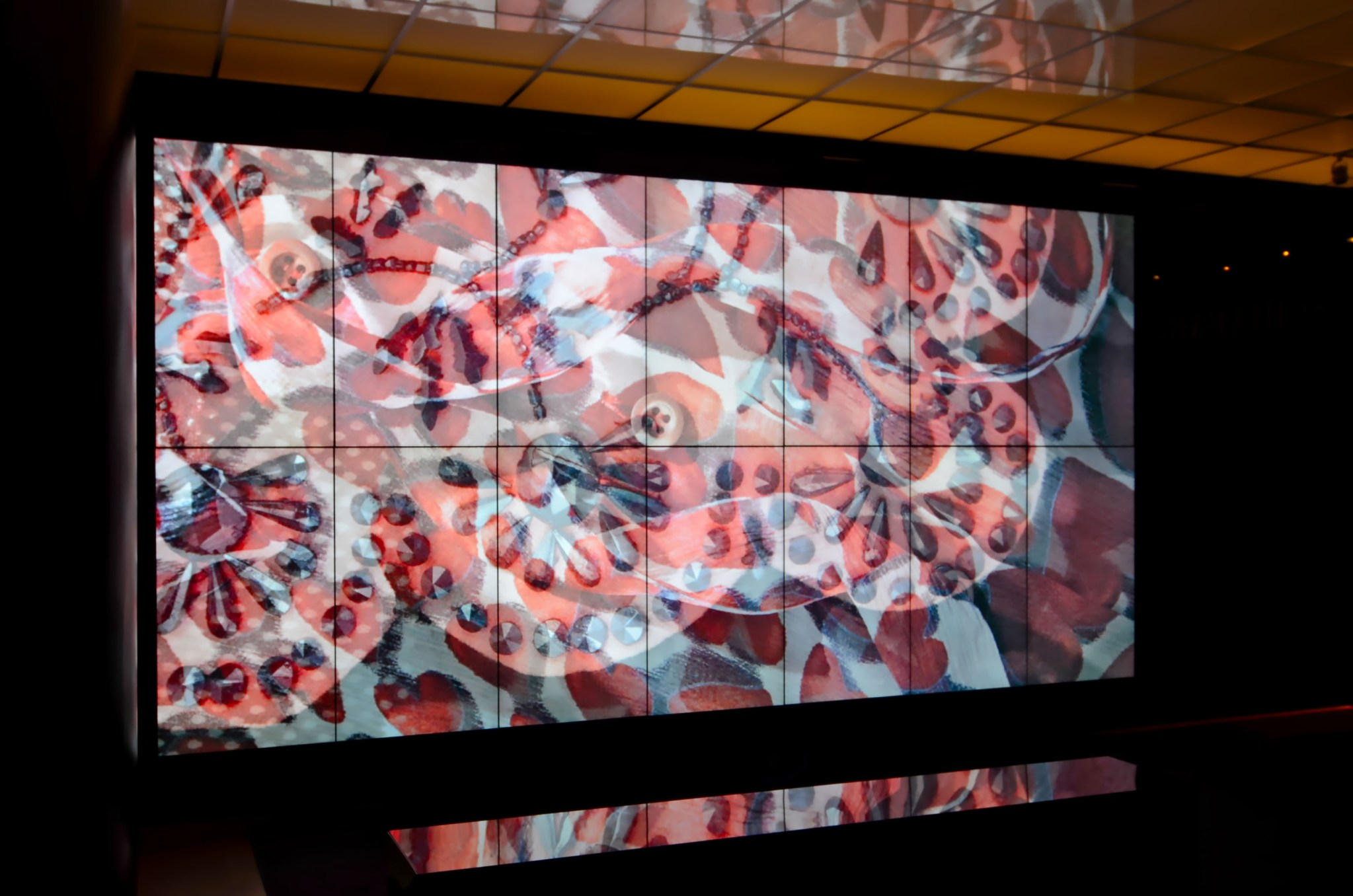 Prada-Schiaparelli Met Museum video wall