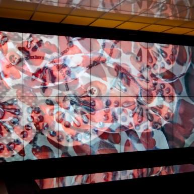Prada-Schiaparelli Met Museum video wall