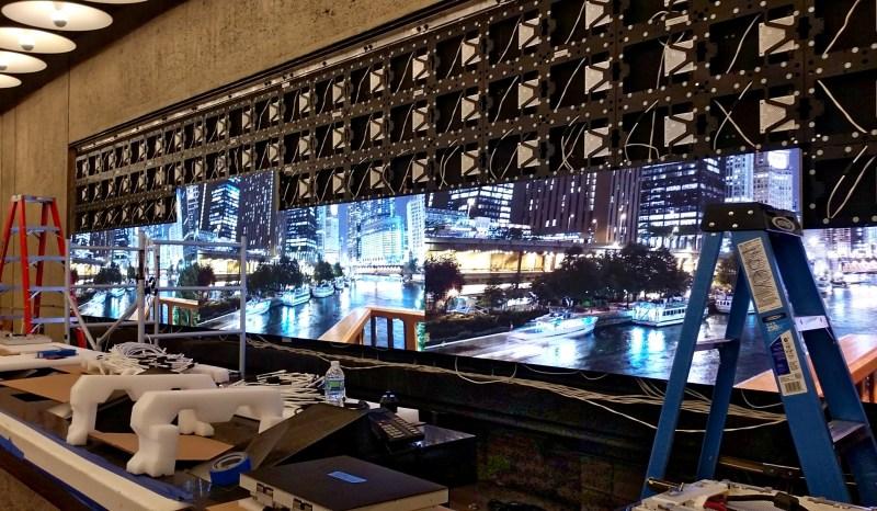 Met Breuer LED Digital Signage Install Side
