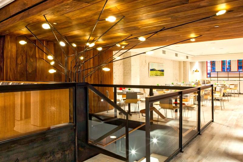 Loring Place restaurant LED tree sculpture