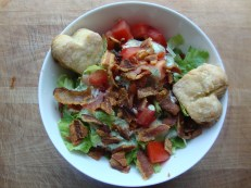 BLT salad with GF Biscuit Croutons https://bigsislittledish.wordpress.com/2011/11/26/blt-salad-with-biscuit-croutons-gf-and-creamy-herb-dressing/