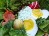 Estonian Rosolje Inspired Composed Salad https://bigsislittledish.wordpress.com/2012/04/07/a-composed-spring-salad-inspired-by-estonian-rosolje-and-birds-nests/