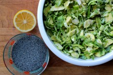 Hashed Brussel Sprouts with Lemon and Poppy Seeds https://bigsislittledish.wordpress.com/2014/03/29/hashed-brussel-sprouts-with-poppy-seeds-and-lemon-for-the-spring/