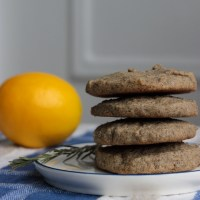 Rosemary Lemon Buckwheat Cookies (Gluten-Free)