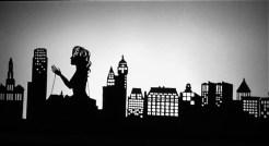 Speakeasy Dollhouse- Ziegfeld's Midnight Frolic. Shadow puppets by Erin Orr