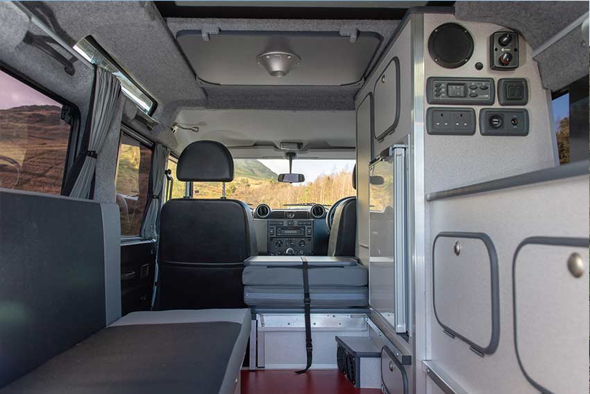 Land Rover Hire Scotland - Interior view