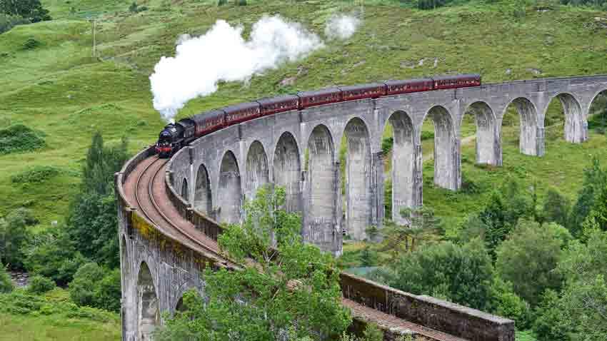 Scottish road trip maps - glenfinnan viaduct