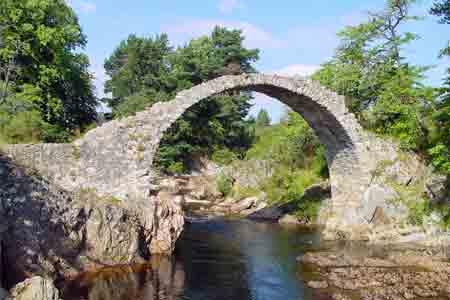 Old Pack horse bridge in Carrbridge
