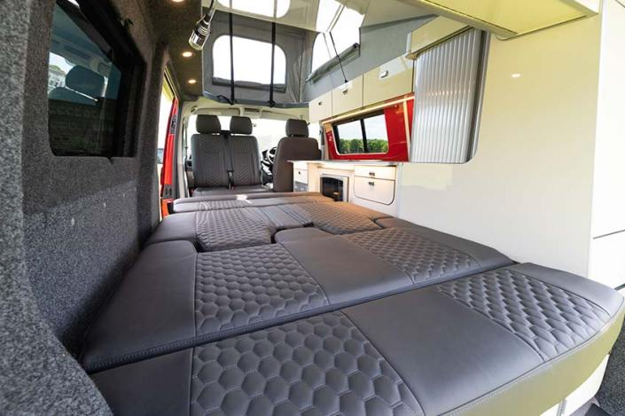 VW campervan hire Scotland sleeping area
