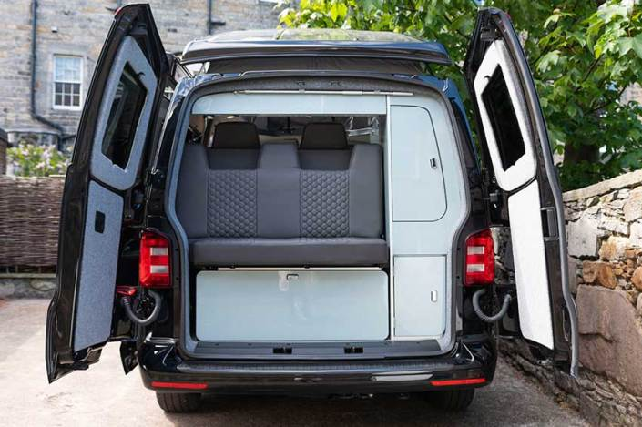 VW Transporter hire storage & rear section