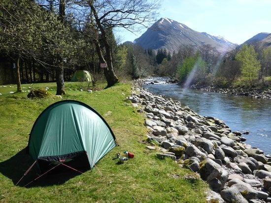 Pitch up Scotland Red Squirrel campsite