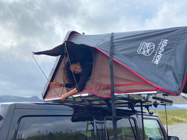 Roof tent camper for hire in Scotland