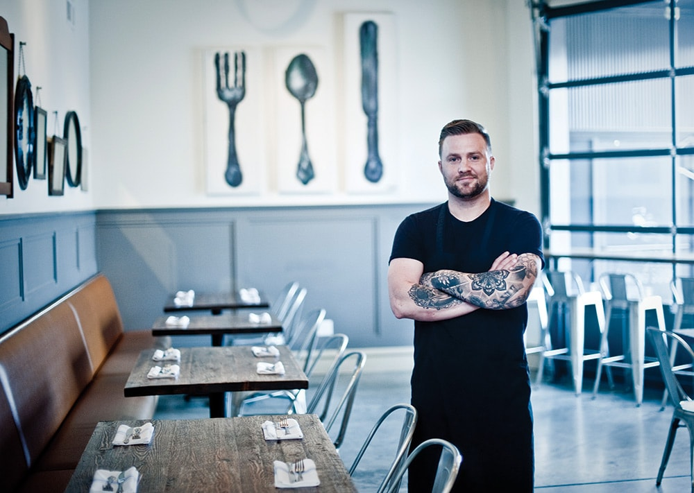 Chef and owner Ben Harman champions the use of fresh, seasonal ingredients with an ever-changing menu.