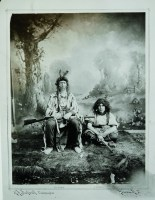 Russell (on right) and Phil Weinard masquerading as an Indian couple. • R. H. Beckwith photograph, shot in Helena, Montana, February 2, 1888. CMRRC (TU2009.39.5648a)