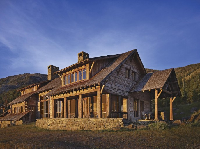 YT worked with Miller Architects on this sub-alpine home that overlooks one of Montana's pristine mountain valleys. YT's craftsmen integrated a palette of bark on cedar logs, antique hand hewn beams and reclaimed siding in finite detailing on both the interior and exterior of the home.