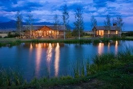 The Fishing Lodge and Moore cabin are situated on the trout pond with views of the sweeping Southwest Montana valley.