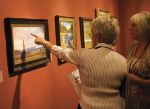 Patrons enjoy the 2012 Artistic Horizons Show. | Photo by Jerolyn Brodeur