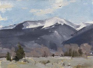 """Jackson Peak""   Oil on Linen   6 x 8 inches"