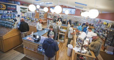 "Mornings at The Trout Shop are always busy. Abundant gear, food, supplies and the answer to ""What are they takin'?"" are all available."