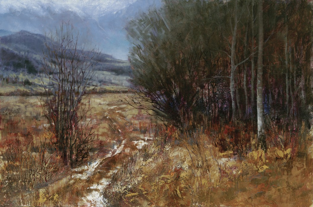 """""""Winter Trail"""" Oil on Canvas   18 x 24 inches"""