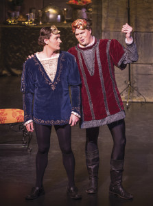 Roméo (left), played by tenor Glenn Seven Allen, sang in his second IOB production just a few weeks after his Carnegie Hall debut. Baritone Sean Anderson (right) sang the role of Mercutio in his third IOB production. | Photo by Bruce Jodar: Wildeye Photography and Rufus Cone