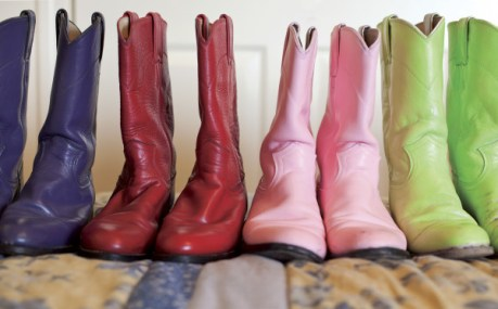 Montana's rodeo royalty wear cowgirl boots that match their horsemanship and western elegance attire. Photo by Janie Osborne