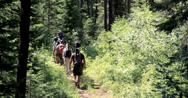 After packing rafts and overnight gear at the Granite Creek Trailhead, anglers hike the easy 6 miles to the river.