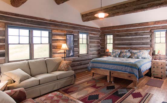 The Brundage Cabins are rustically cozy and full of quiet ambiance.