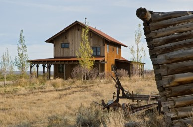 The ranch manager's home sits just below the main house.