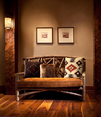 Careful furniture placement can enhance the viewer's appreciation of art throughout a home.