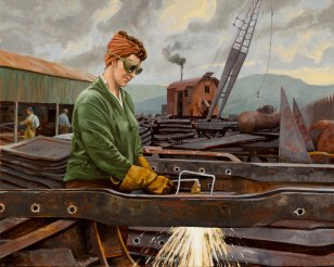 """Cutting Steel in the Yard"" 