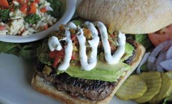 Montana Ale Works - J Bar L Natural Burger. Photo by Victoria Thomas