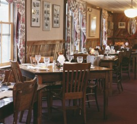 """The dining room in the main restaurant at Chico is a blend of rustic elegance where the dress code is """"come as you are"""" and the food is renown throughout the state. Photo courtesy of Chico Hot Springs"""