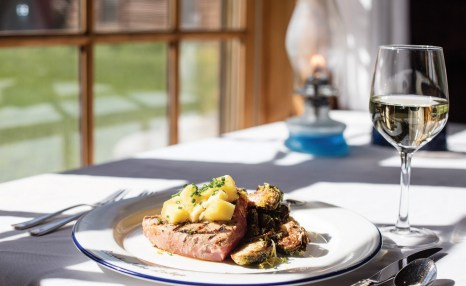 Guests often work up a healthy appetite after a day of adventuring on the ranch.