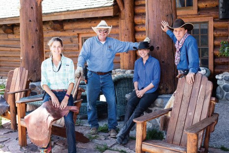 The staff become like family to guests during a week-long stay at Brooks Lake Lodge.